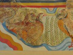 Fresco Perdices patas rojas, Palacio de Cnosos