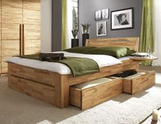 komplettes schlafzimmer aus robustem massivholz. #betten ... - Schlafzimmer Holz Massiv