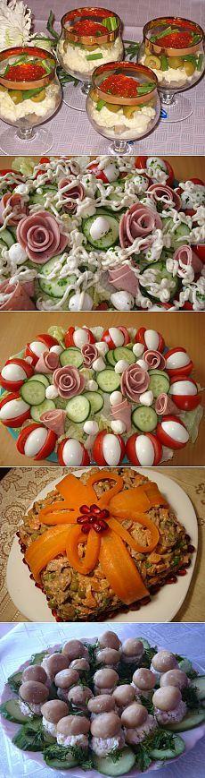 Салаты на День рождения и праздничный стол   ЖЕНСКИЙ МИР