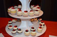 Ladybug mini cupcakes