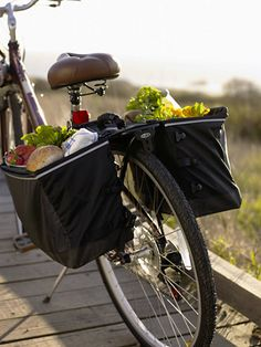 Grocery Panniers: Cycling Bags | Free Shipping at L.L.Bean $96.00 with rack