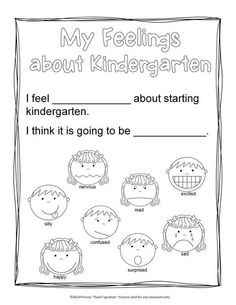 Kindergarten Beginning-of-the-Year Book to help in acclimating your students to kindergarten . Includes 22 black and white pages of activities so students can color and write their own Beginning-of-the-Year book, and you can save on ink! I think you and your kiddos will enjoy this! Click on GIF arrow to view given pages. $