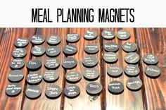 Very smart meal planning magnets  http://decorandthedog.net/decorandthedog/2013/01/meal-planning-tips.html