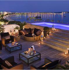 Dream Home Design, House Design, Outdoor Men, Outdoor Decor, Jacuzzi Outdoor, Terrace Design, In Ground Pools, Decoration, Beautiful Landscapes