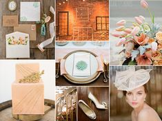 blush and peach romantic wedding