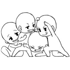 ハッシュタグ #トレス素材 Anime Drawings Sketches, Cartoon Drawings, Cute Drawings, Chibi Sketch, Drawing Templates, Drawings Of Friends, Poses References, Art Poses, Drawing Base