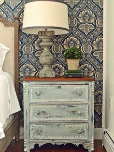 Shabby Chic Decor easy and creative tricks - Attractive decor to make a shabby but charming shabby chic home decor rustic . This awesome suggestion shared on this not so shabby day 20190521 , pin note ref 2576062139 Distressed Furniture, Shabby Chic Furniture, Shabby Chic Decor, Rustic Decor, Distressed Wood, Rustic Furniture, Paint Furniture, Furniture Makeover, Painted Night Stands