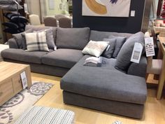 Grey corner sofa Next