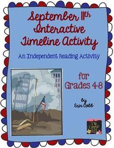 Interactive Timeline of September 11 | September 11th {9/11} Interactive Timeline Activity ~ Reading for ...