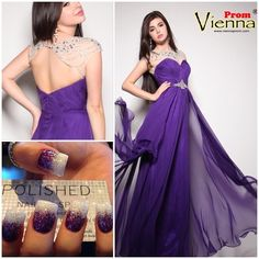 """#prom #prom2015 #prom2k15 #promdresses #viennaprom #vienna #formal #pageant #pageantdress #nails #glitter #sparkle #nailart"""