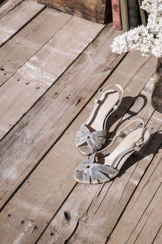 Sandale HOWARD doré - Talon moyen