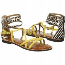 Sam Edelman Gable Sandal in Black/White $100