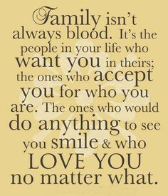 Family is important.