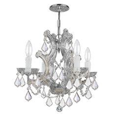 Crystorama Maria Theresa 4474 4 Light Chandelier