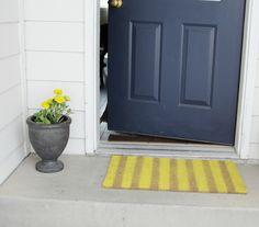 front door rug paint DIY