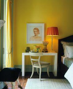 Parsons desk bedside // bedrooms