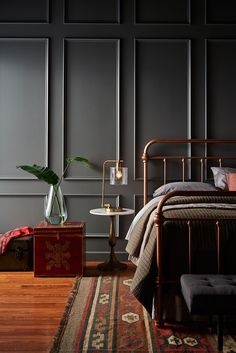 Behr hot and spicy color Fashion Color Trends AW translated into Interior Design - Eclectic Trends Interiores Art Deco, Behr Colors, Grey Paint Colors, Dark Interiors, Home Interior Design, Interior Paint, Sweet Home, Bedroom Decor, House Design