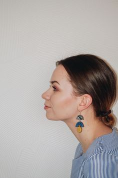 NEW - Modern, minimal polymer clay earrings. Beautiful soft colors. Spring inspired jewelry.