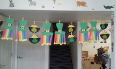Pots of gold and rainbow L hats toddler craft