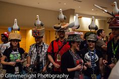 MINE? Hilarious seagull cosplay from Finding Nemo - love how all their helmets are different!