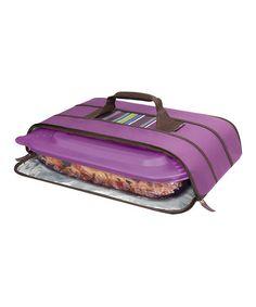 Purple Stripe Insulated Universal Stowaway Potlucker Carrier #zulily #zulilyfinds