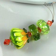 TRIZAS-ORIGINAL  Handmade lampwork bead  TOS0453 SRA #TRIZASOriginal #Lampwork