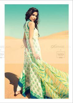 Beautiful sania maskatiya sapphire lawn