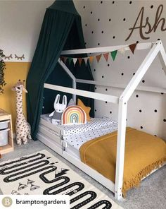 House Beds For Kids, Beds For Small Rooms, Kid Beds, White Wooden Single Bed, House Frame Bed, Canopy Bed Frame, Kids Bed Frames, Wooden Bed Frames, Yurts
