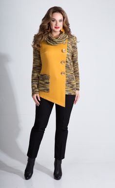 A collection of women's clothing of large sizes of the Belarusian brand Liliana fall-winter - Kleidung Ideen Look Fashion, Hijab Fashion, Fashion Outfits, Womens Fashion, Handgestrickte Pullover, Kleidung Design, Vetement Fashion, African Fashion Dresses, Fashion Sewing