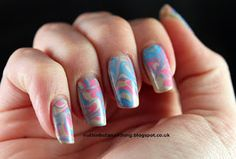 Dry water marble nails, click through for tutorial http://nuthinbutanailthing.blogspot.co.uk/2013/02/dry-water-marble-nails-tutorial.html