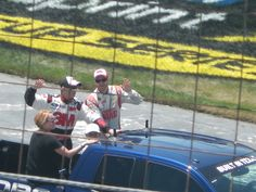 Greg Biffle and Dale Earnhardt Jr intros