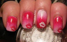Fabulous Polish: Valentine Nail Art Challenge: Day 3 kisses