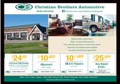 Get great discounts at Christian Bros. Automotive!