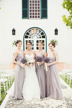 Purple/grey bridesmaid.
