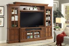 This Lifestyle Entertainment Collection is as functional as it is attractive. With plenty of storage as well as easily showcasing your media devices & decor. This wall can blend to many different styles of home décor with beautiful wood that resonates its quality. The Console and Piers have glass doors with bevel edged glass insert to allow remote access to components.