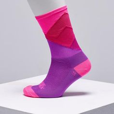 pink cycling socks by Ridge Supply -  cycling socks available in the UK on OMNIUM