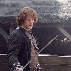 Point that sword at me and I'll...surrender? #Outlander #JamieFraser