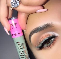 Cute Makeup, Beauty Makeup, Makeup Looks, Star Makeup, Eyeshadow Looks, Jeffree Star, War Paint, Eyeliner, Nail Polish