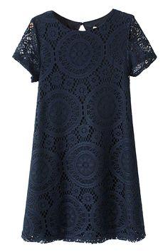 Sweet Crochet Lace Shift Tunic Top