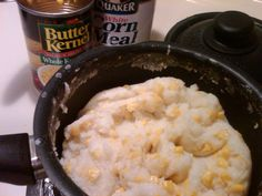 """Mieliepap Cornmeal, water, butter, salt, and corn to create a """"porridge"""" that South Africans like with a """"braai"""" or grill out or just for breakfast. Africans, South Africa, Grilling, Salt, Feels, Butter, Create, Breakfast, Food"""