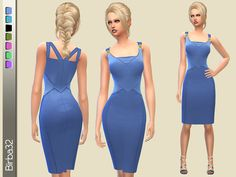 Birba32's Bluette Pencil Dress   Sims 4 Updates -♦- Sims Finds & Sims Must Haves -♦- Free Sims Downloads