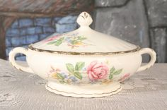 Roses Pope Gosser Covered Casserole Dish by sisoftmoonVintage, $16.50