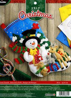 Bucilla Forest Friends  18 Felt Christmas Stocking Kit