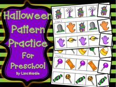 This pack of Halloween pattern practice sheets comes with 12 pages of patterns (3 on each page) and the finishing pattern pieces! It contains AB, AAB, and ABC style patterns for different skill levels. These sheets can be printed out and completed by gluing or you can cut out each pattern slip, laminate it, and add Velcro to create a math center activity! Happy Halloween!