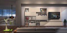 Salas de estar modernas Contemporary living rooms www.intense-mobiliario.com  CASH http://intense-mobiliario.com/pt/salas-de-estar/3646-estante-cash.html