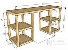 Parson Tower Desk Diy Furniture Plans, Woodworking Furniture, Furniture Projects, Wood Furniture, Furniture Design, Furniture Storage, Simple Furniture, Modern Furniture, White Furniture
