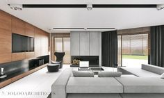 salon w nowoczesnym stylu - Szukaj w Google Living Room Images, Living Room Grey, Living Spaces, Interior Design Living Room, Living Room Designs, Modern Classic, Decoration, Ideal Home, Furniture Design