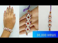 How to make Rakhi for Raksha Bandhan festival at home Kids Jewelry, Jewelry Crafts, Jewelry Art, Jewlery, Simple Bracelets, Beaded Bracelets, Rakhi Bracelet, Handmade Rakhi Designs, Rakhi Making