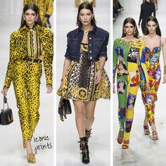 Versace iconic prints! #mfw