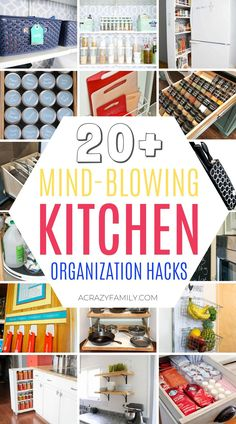 Mind-blowing kitchen organization DIY hacks that are so clever you'll regret not having tried them sooner! Under Kitchen Sinks, Under Kitchen Sink Organization, Home Organization Hacks, Pantry Organization, Organizing Your Home, Diy Kitchen, Organization Ideas, Kitchen Ideas, Kitchen Cleaning